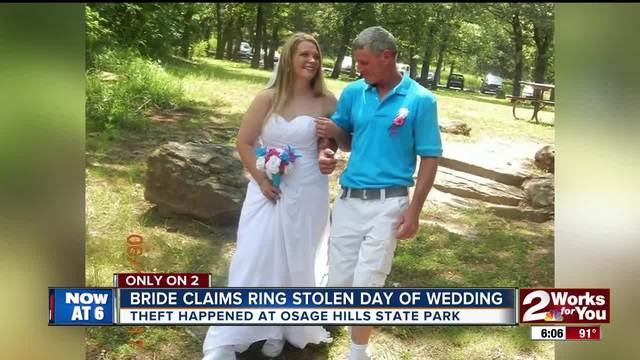 Bride claims wedding ring was stolen on her wedding day