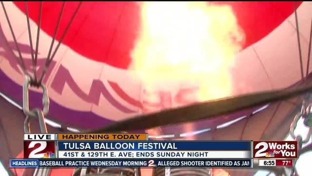 Inside the Remax hot air balloon previewing Tulsa Balloon Festival