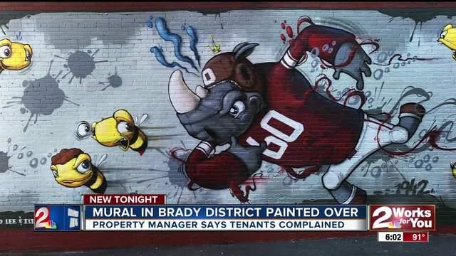 Brady District mural wiped away