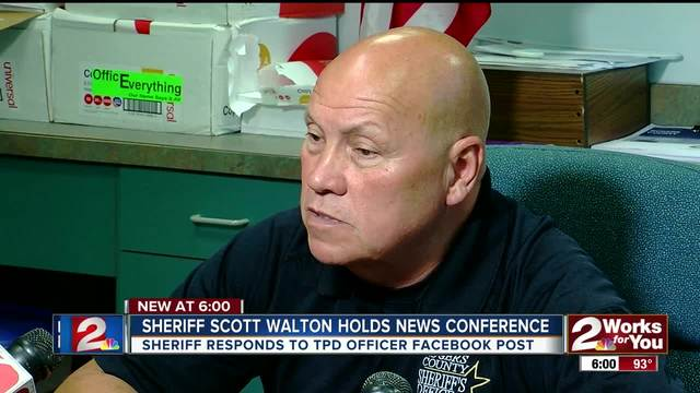 Sheriff responds to TPD officer-s facebook post