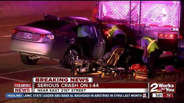 Passengers injured after a serious car crash on I-44