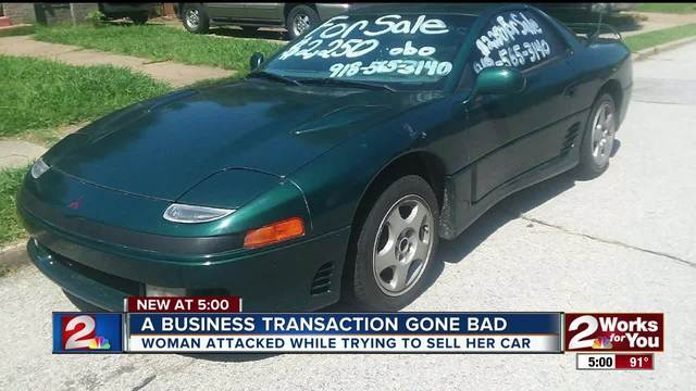 Woman attacked while trying to sell car