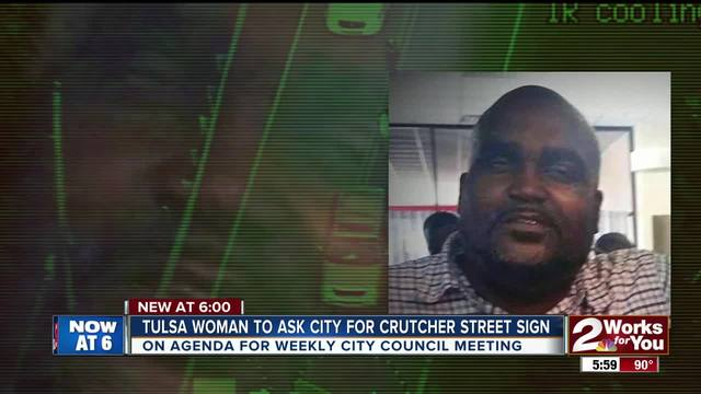 Tulsa woman to ask for Crutcher street sign
