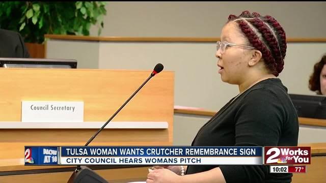Tulsa woman wants Crutcher remeberance road sign
