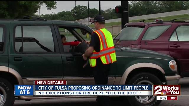Proposed ordinance on panhandling would effect fire department