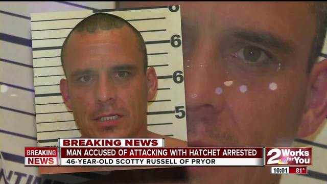 Man arrested for attacking people with hatchet