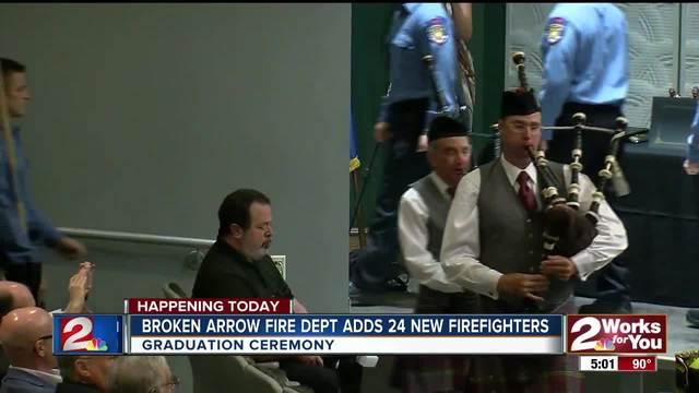 Broken Arrow Fire Dept- adds 24 new firefighters