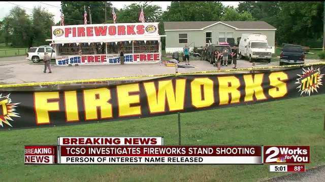 TCSO Investigating fireworks stand shooting