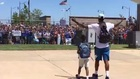 Thunder fans greet Paul George at airport