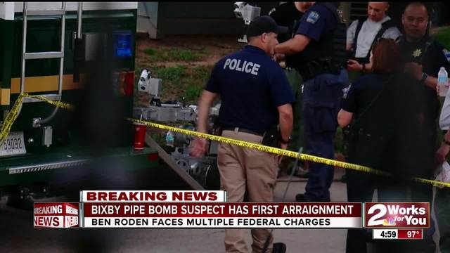 Pipe Bomb suspect arraigned