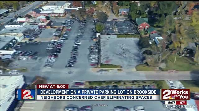Re-zoning of a parking lot on Brookside could leave around 30 less…