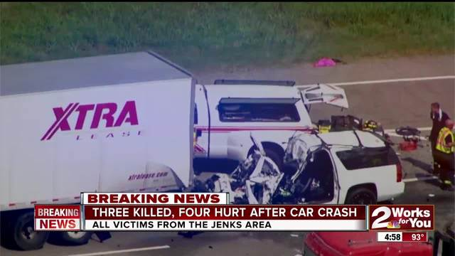 Three Killed In Crash In Purcell Monday Afternoon Four Taken To Hospital Kjrh Com