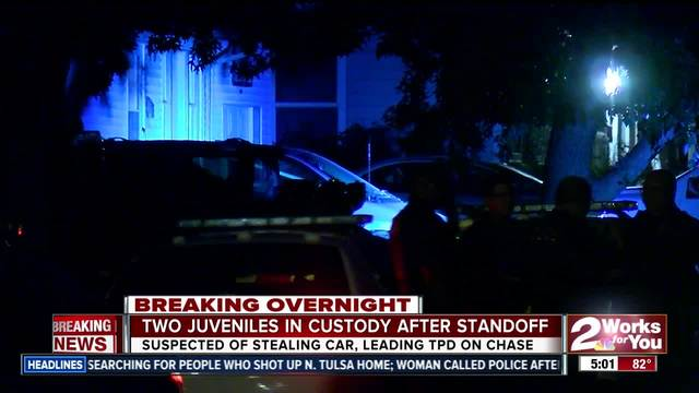 Two juveniles in custody after police standoff