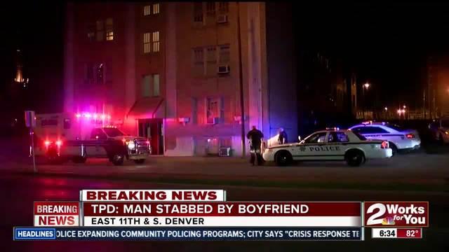 Man in custody afer stabbing his boyfriend