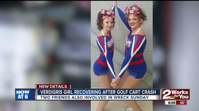 Cheerleaders hurt in golf cart crash Sunday