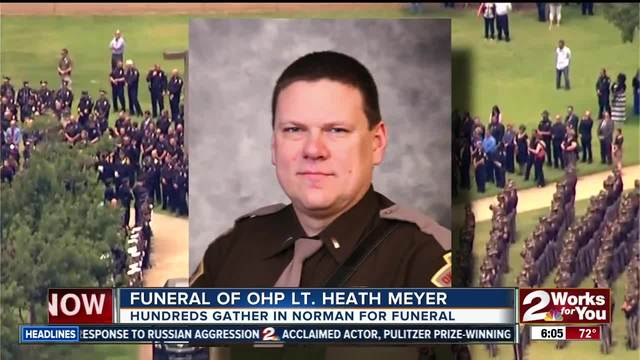 Law officers honor Oklahoma trooper who died in crash