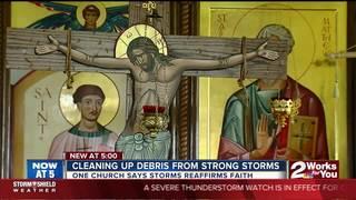 Lightning strike erases 'death' from Jesus mural