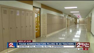 Administrators back to teaching temporarily