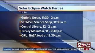 Solar eclipse watch parties in Tulsa