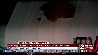 Fire melts roof at fertilizer plant in Catoosa