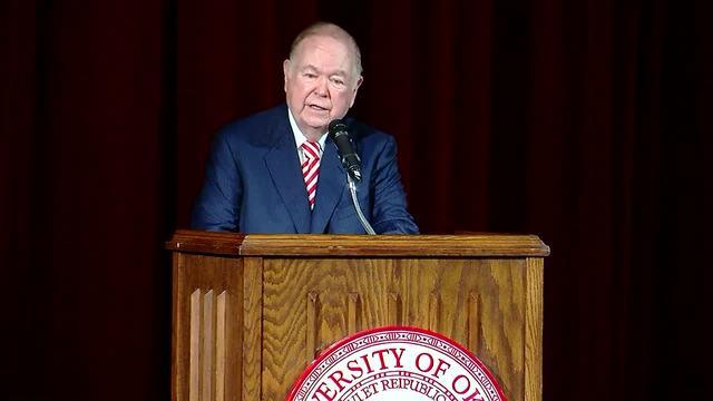 Oklahoma president David Boren announces retirement