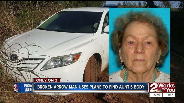 Broken Arrow man uses plane to find aunt-s body