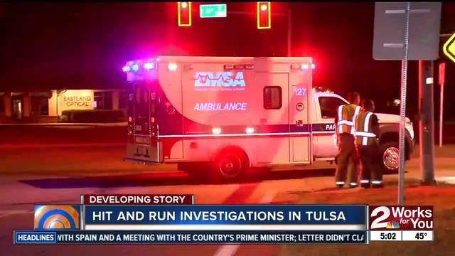 Man sent to hospital in east Tulsa hit and run
