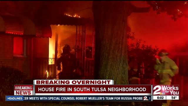 Firefighters respond to house fire in South Tulsa