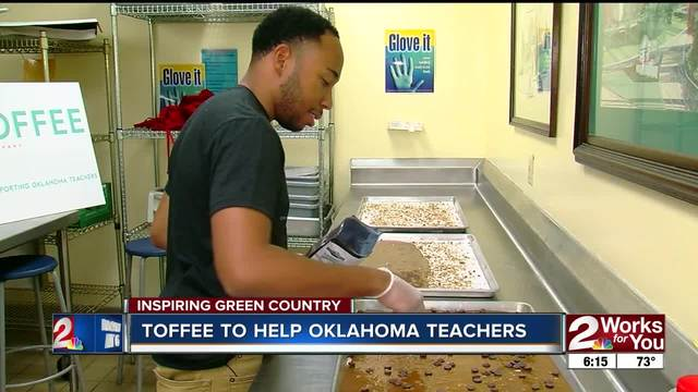 Oklahoma Toffee Company takes a portion of its profits to buy supplies…