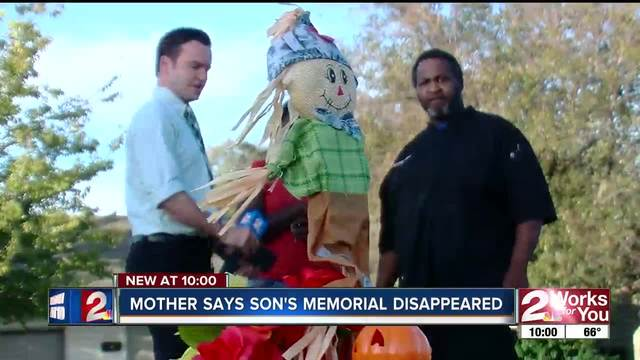 Mother says 7-year-old-s memorial was removed