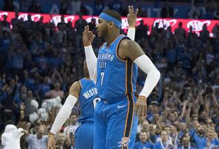 Thunder top Knicks 105-84 in opener