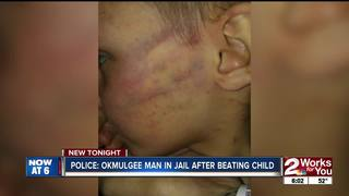 Man accused of beating child for opening present