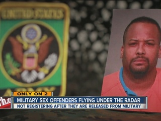Military sex offenders slide under public radar