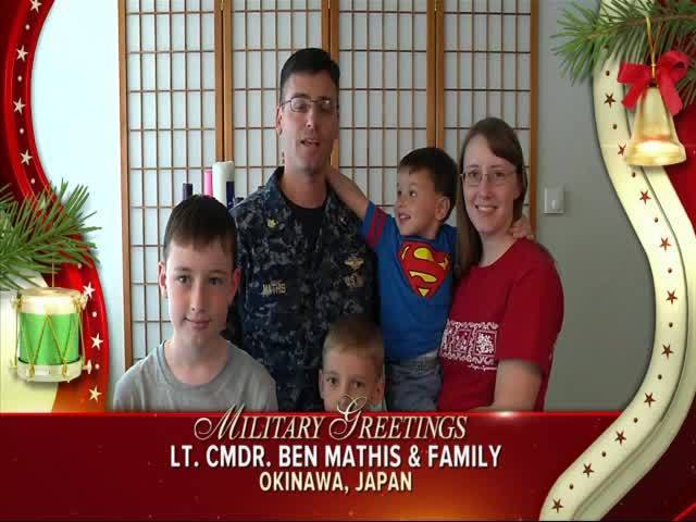 Lt. Cmdr. Ben Mathis and Family