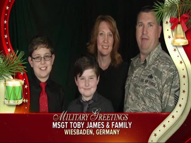 MSgt Toby James and Family