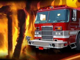 Creek County home catches fire