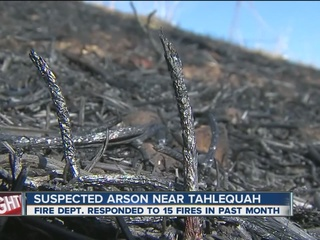 Tahlequah Fire fights series of arson fires