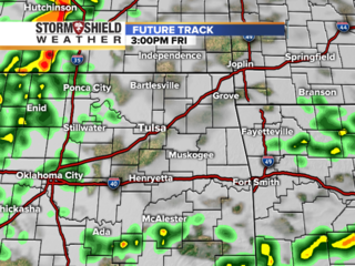 Friday track of possible severe weather