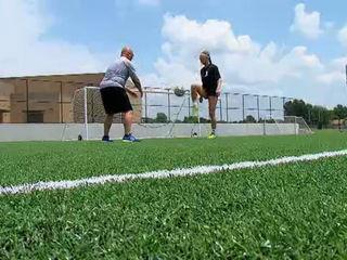 Olympics soccer with Union High School star