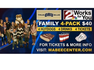 ORU basketball 4-pack ticket giveaway