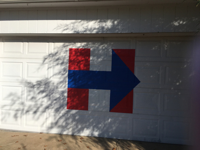 Hillary Clinton Supporter Retaliates By Painting Garage Door After Sign  Stolen