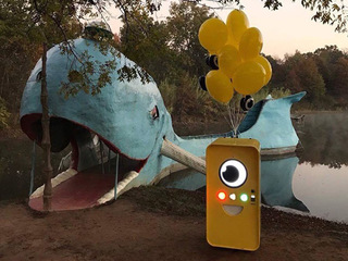 Snapchat Spectacles kiosk spotted at Blue Whale
