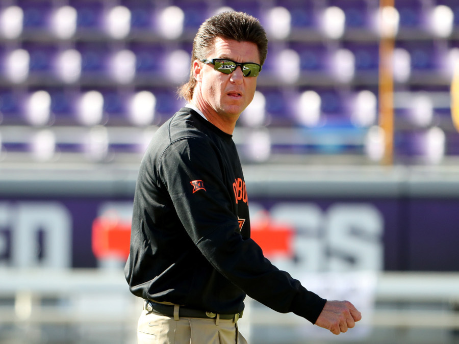 Mike Gundy Mullet Photos Of OSU Cowboys Coachs Hair During The 2016 College Football Season