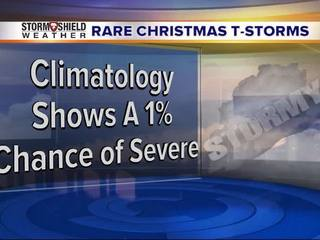 A line of t-storms looks likely Christmas Day