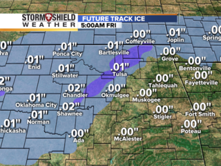 How much ice? Radar forecasts accumulations