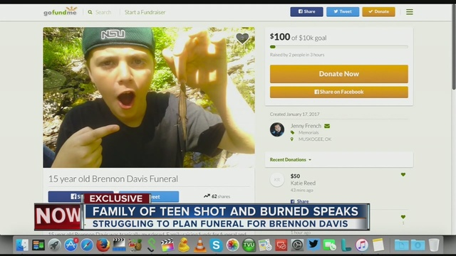 Family of Brennon Davis sets up Gofundme page to help pay ...