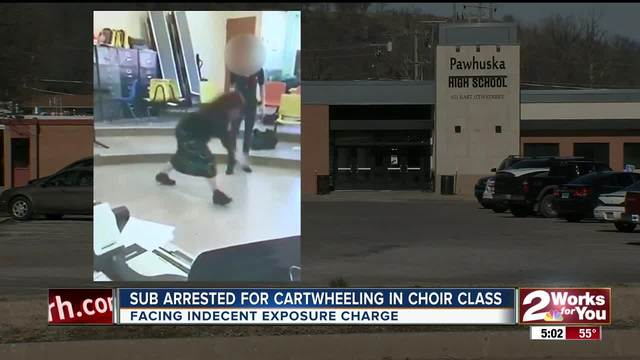 Choir teacher cartwheel