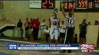 Oklahoma sports officials at critical levels