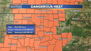 BLOG: The first Heat Advisory of the year
