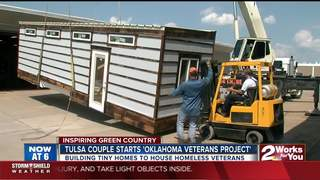 Tiny homes being built for homeless veterans